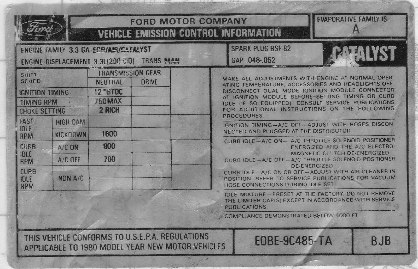 Ford 33 Vacuum Lining 1983 Toyota Pickup Diagram Here It Is In The Natural Holley 1946 With Common 12b Calibration 1 R0 1981 Plenty Of 1980 Cars Used Later To Emission System